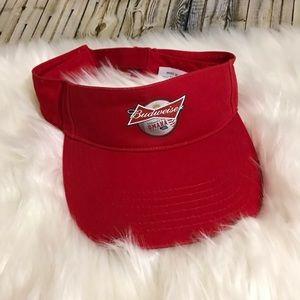 Budweiser Omaha Visor Red Velcro Closure